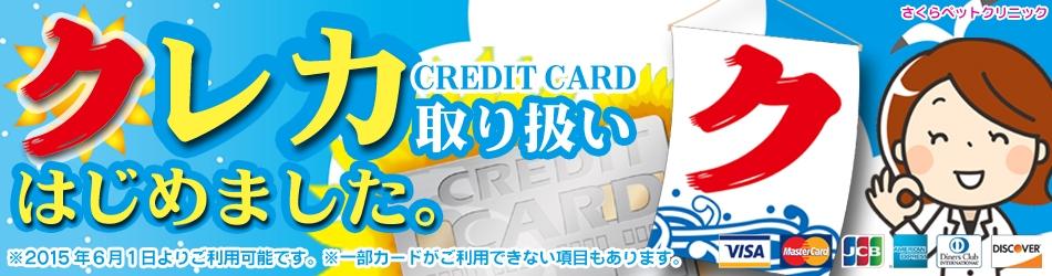 クレジットカード取り扱い始めました!|さくらペットクリニック|動物病院|鹿児島市