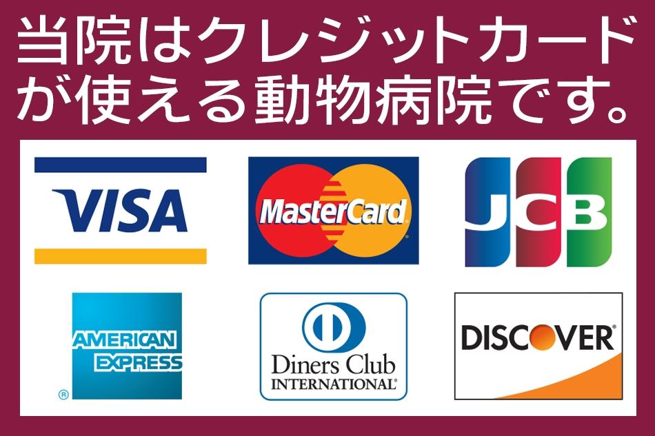 クレジットカード決済|さくらペットクリニック|動物病院|鹿児島市
